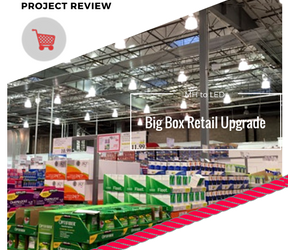 Big Box Retailer saves an average of $72K per location with LED Lamp Retrofit Solution