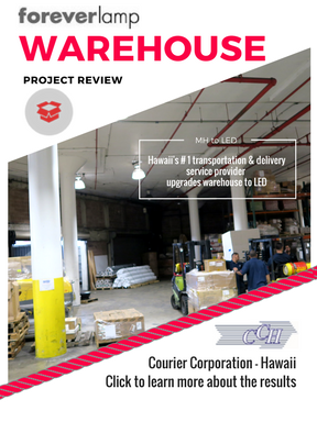 Hawaii's #1 delivery service provider succeeds in improving energy efficiency and light quality in busy warehouse