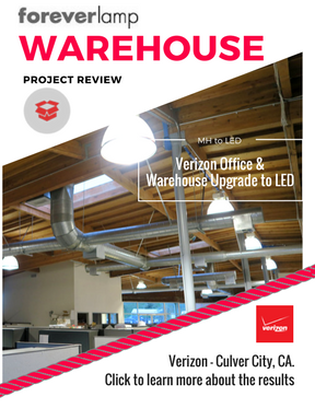 Verizon Upgrades Office and Warehouse Lighting with LED and dramatically improves light quality.