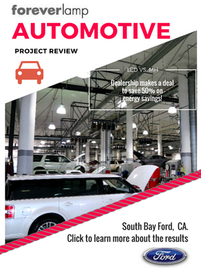 South Bay Ford Auto Dealer Improves Service Bay Area with LED Retrofit