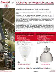 High Bay LED Areospace application