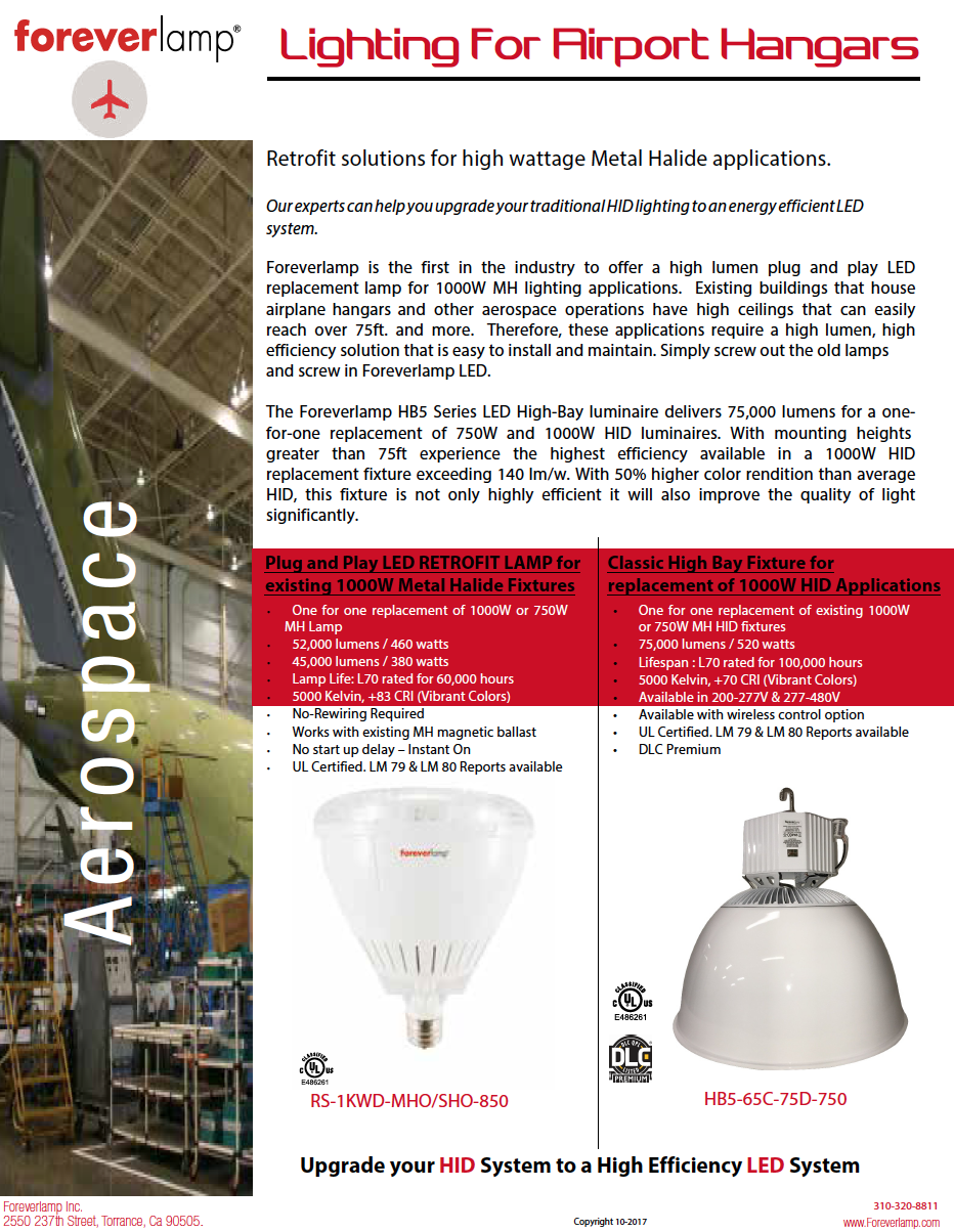 aerospace LED high bay Lights